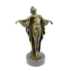 Nude Woman Awakening Bronze Sculpture