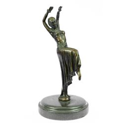 "10"" Tall Dancer Bronze Sculpture on marble base Statue"