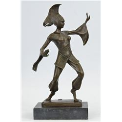 A Dancer Bronze Statue on marble base Sculpture