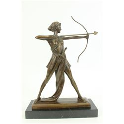 Diana Huntress Figurine Bronze Sculpture