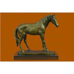 Hot Cast Collectible Arabian Racing Horse Bronze Sculpture