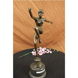 Dancer Bronze sculpture on Marble Base Figurine