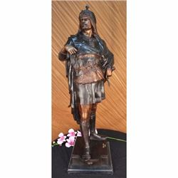 European Military Warrior Prince Bronze Statue