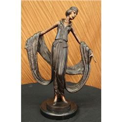 Dancer Bronze Sculpture Hot Cast Lost Wax Figurine