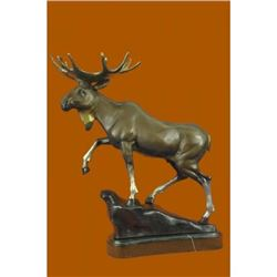 Hot Cast Moose Bronze Sculpture