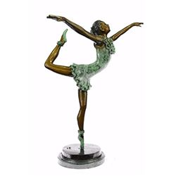 Ballerina Dancer Art Bronze Statue Sculpture