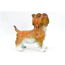 Special Patina Moigniez Silky Terrier Dog Bronze Sculpture