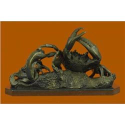 Lobster sea life Bronze Sculpture on marble base