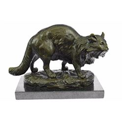 A Persian Cat Hot cast Bronze Sculpture