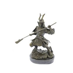 Japanese Warrior Samurai Bronze Statue