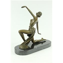 Jean Patou Gilt Flirty Dancer Bronze Figurine