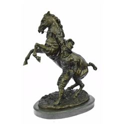 Marly Horse Bronze Statue Man With Horse Sculpture