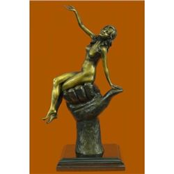 Erotic Art Sexy Lady Bronze Sculpture