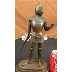 Knight Worrior Bronze Statue on Marble base Sculpture