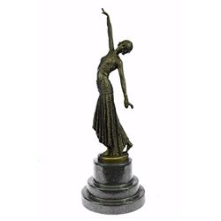 Egyptian Dancer Bronze Statue on marble base Sculpture