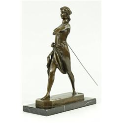 Diana The Huntress Bronze Statue on Marble Base Sculpture