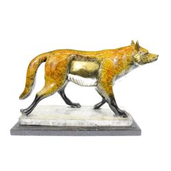 Collector edition Sly Fox Animal Bronze Sculpture