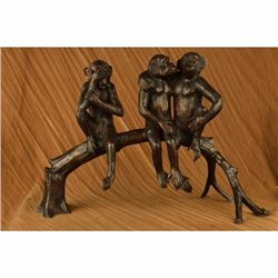 Monkey Romance Love Bronze Statue