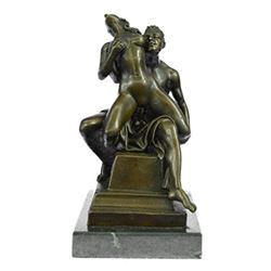 Erotic Art Sexual Great Sex Action BronzeSculpture on Marble Base Statue