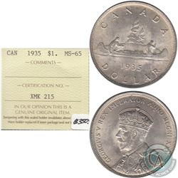 1935 Canada Dollar ICCS Certified MS-65
