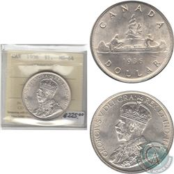 1936 Canada Dollar ICCS Certified MS-64