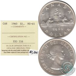 1960 Canada Dollar ICCS Certified MS-65