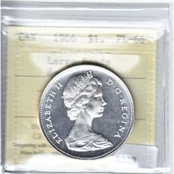 1966 Canada Dollar Large Beads ICCS Certified PL-66 Heavy Cameo