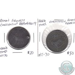 Set of Roman Firmness Constitution Hard Times Token HT-70 2pcs.
