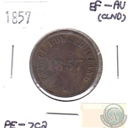 1857 PE-7C2 Token EF-AU-50 (lightly cleaned)