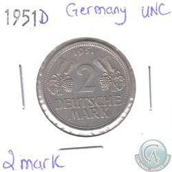 1951D Germany 2 Mark UNC