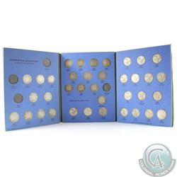 Estate Lot of Canada 1912-1952 25-cents in Blue Whitman folder. You will receive each date issued fr
