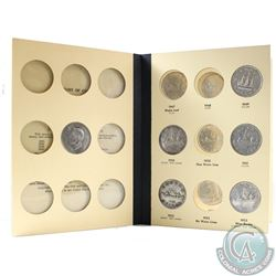 Estate Lot of Canada 1939-1967 Dollars in Library of Coins folder. You will receive the following da