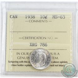 1938 Canada 10-cent ICCS Certified MS-63