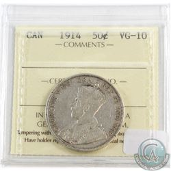 1914 Canada 50-cent ICCS Certified VG-10