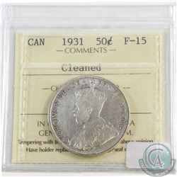 1931 Canada 50-cent ICCS Certified F-15 (lightly cleaned)