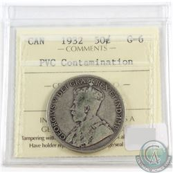 1932 Canada 50-cent ICCS Certified G-6 (PVC Contamination)