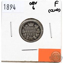 1894 Canada 10-cents Obverse 6 Fine (lightly cleaned)