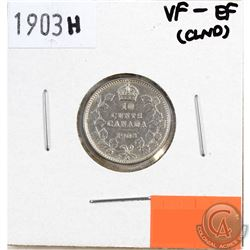1903H Canada 10-cents VF-EF (lightly cleaned)