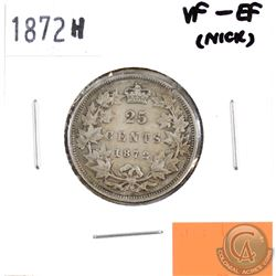 1872H Canada 25-cents VF-EF (Nick)