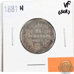1881H Canada 25-cents VF-20 (Scratched)
