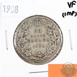 1908 Canada 50-cents VF (impaired, view image)