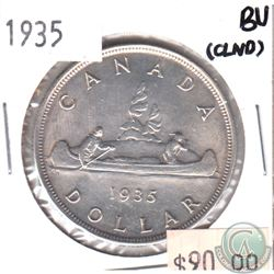 1935 Canada Silver $1 Brilliant Uncirculated (MS-62 to MS-64) (lightly cleaned)