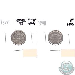 1899 Canada 10-cents Small 9's F-VF (Scratched) & 1900 10-cents VF (Scratched). 2pcs