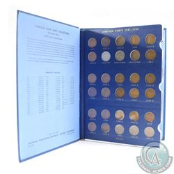 Vintage USA Lincoln Cents 1941-1974 Collector Book of 69pcs. 1941S, 1943S, 1955, 1959-1961, 1962D &