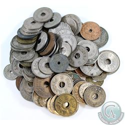 Estate Lot of World Coinage; Fiji & British West and East Africa. 96pcs