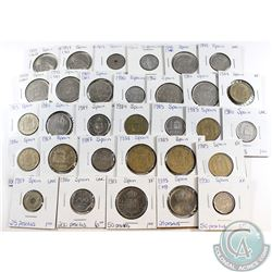 Estate Lot of Spain Coinage 1957-1997 in Fine to UNC. 31pcs