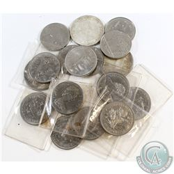 Canada Silver & Nickel Dollars Dated 1964-1985. You will receive 3x Silver dollars dated 1964 & 2x 1