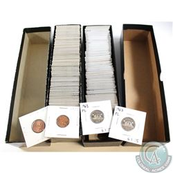 Estate Lot of 86x 1-cent Dated 1920-1978 & 83x 5-cents Dated 1953-1972. 169pcs in total.