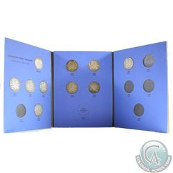 Estate Lot of 10x Canada 50-cents Dated 1911-1929, Missing 1914 & 1921 in Blue Whitman Folder. 10pcs