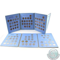 Estate Lot of 94x Canada 1-cent & 5-cents Dated 1920-1972 in Blue Whitman Folders. You will receive